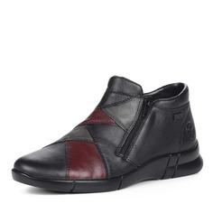 Ботинки Черные ботинки из комбинированных материалов Rieker