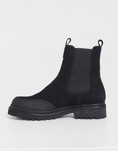 Черные ботинки с логотипом сзади Versace Jeans Couture-Черный цвет