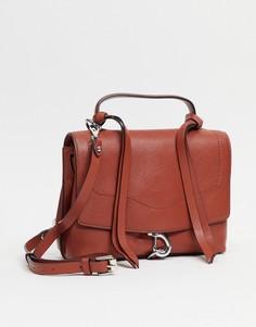 Коричневый кожаный рюкзак-трансформер Rebecca Minkoff-Коричневый цвет