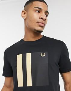 Черная футболка с контрастной отделкой Fred Perry-Черный цвет