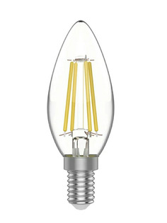 Лампочка Gauss Basic Filament Свеча Е14 4.5W 4100К 420Lm 1031215