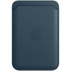 Чехол Apple iPhone Leather Wallet MagSafe Baltic Blue