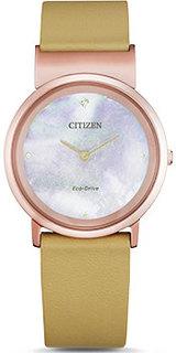 Японские наручные женские часы Citizen EG7073-16Y. Коллекция Eco-Drive
