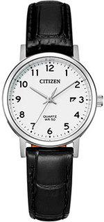 Японские наручные женские часы Citizen EU6090-03A. Коллекция Basic