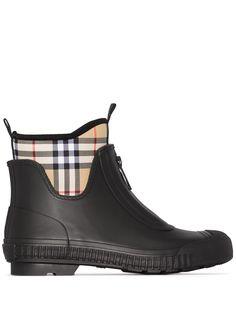 Burberry резиновые ботинки в клетку Vintage Check