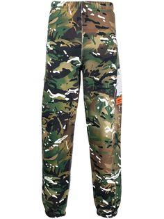 Heron Preston спортивные брюки с камуфляжным принтом