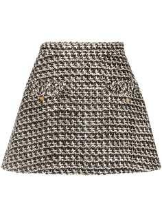 Valentino твидовая юбка-шорты с пайетками