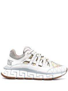 Versace кроссовки с орнаментом Greca на подошве