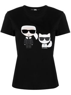 Karl Lagerfeld футболка Karl & Choupette Ikonik