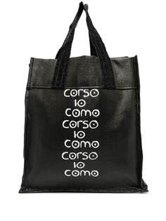 10 CORSO COMO сумка-тоут из рафии с логотипом
