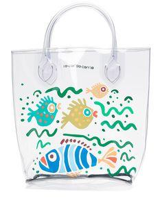 10 CORSO COMO большая прозрачная сумка-тоут с принтом