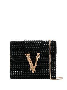 Versace сумка на плечо Virtus с заклепками