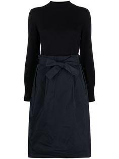 Peserico двухцветное платье-джемпер