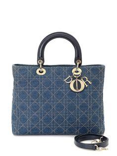 Christian Dior большая сумка Lady Dior Cannage pre-owned