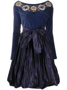 A.N.G.E.L.O. Vintage Cult бархатное платье 1990-х годов с вышивкой бисером