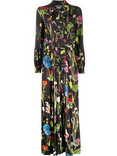 Boutique Moschino платье макси с бантом и цветочным фотопринтом