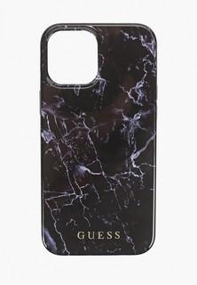 Чехол для iPhone Guess 12 Pro Max (6.7), PC/TPU Marble Design Black