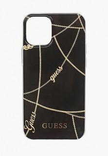 Чехол для iPhone Guess 12 mini (5.4), PC/TPU Chain design Black/Gold