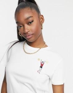 Белая футболка с логотипом PUMA x Charlotte Olympia-Белый