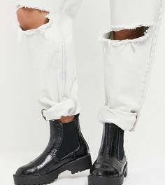 Черные ботинки челси на массивной платформе Yours-Черный цвет