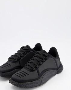 Черные кроссовки с фигурной подошвой ASOS DESIGN-Черный цвет