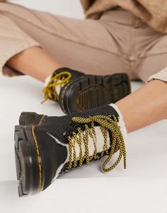 Черные ботинки на плюшевой подкладке Dr Martens tract-Черный цвет