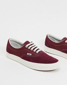 Кроссовки из замши свекольно-красного и белого цвета Vans ComfyCush Era-Красный