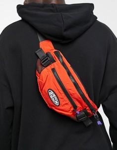 Сумка-кошелек на пояс темно-оранжевого цвета с логотипом Grimey-Оранжевый цвет