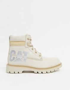 Бежевые кожаные ботинки Caterpillar Lyric Bold-Бежевый