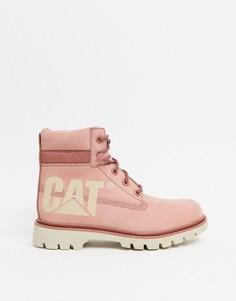Розовые кожаные ботинки Caterpillar Lyric Bold-Розовый цвет