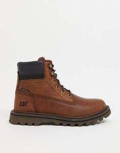Коричневые непромокаемые ботинки Caterpillar Deplete-Коричневый цвет