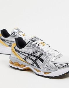 Серебристые и золотистые кроссовки Asics Gel Kayano 14-Серый