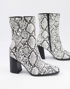 Ботинки со змеиным принтом Pimkie-Многоцветный