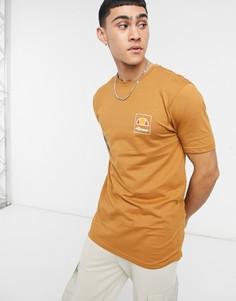 Светло-коричневая футболка с логотипом ellesse-Коричневый цвет