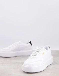 Белые кроссовки с черной отделкой Puma Oslo Femme-Белый