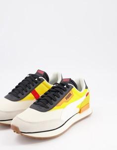 Желто-белые кроссовки Puma Future Rider-Желтый
