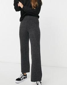 Синевато-серые трикотажные брюки Topshop-Серый