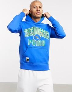 Двусторонний худи синего и зеленого цвета с большим логотипом Puma x The Hundreds-Многоцветный