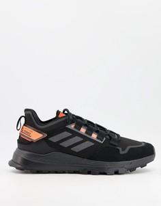Черные кроссовки с оранжевыми вставками adidas Outdoors Terrex Hikester-Черный цвет