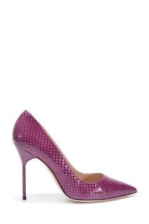 Фиолетовые туфли BB Watersnake 90 Manolo Blahnik