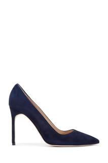 Синие замшевые туфли BB Suede 105 Manolo Blahnik