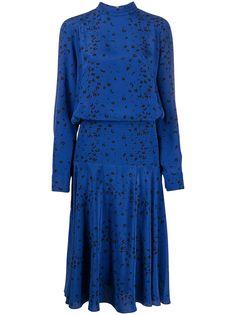Kenzo платье миди с леопардовым принтом