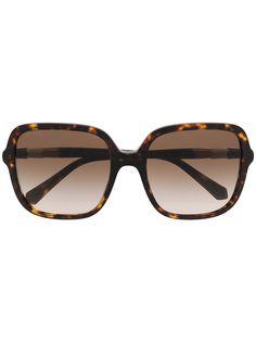 Bvlgari солнцезащитные очки в массивной оправе черепаховой расцветки