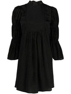 byTiMo платье-трапеция в мелкую точку