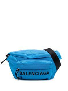 Balenciaga поясная сумка на молнии с логотипом