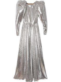 Carolina Herrera вечернее платье с пайетками и пышными рукавами