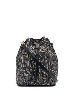 Etro сумка-ведро с принтом пейсли