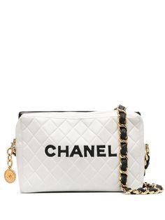 Chanel Pre-Owned стеганая сумка на плечо 1991-го года с логотипом