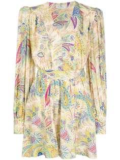 Etro платье с запахом и принтом пейсли