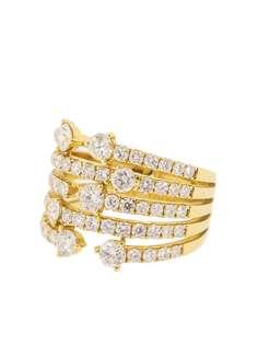 graziela кольцо Cage из желтого золота с бриллиантами